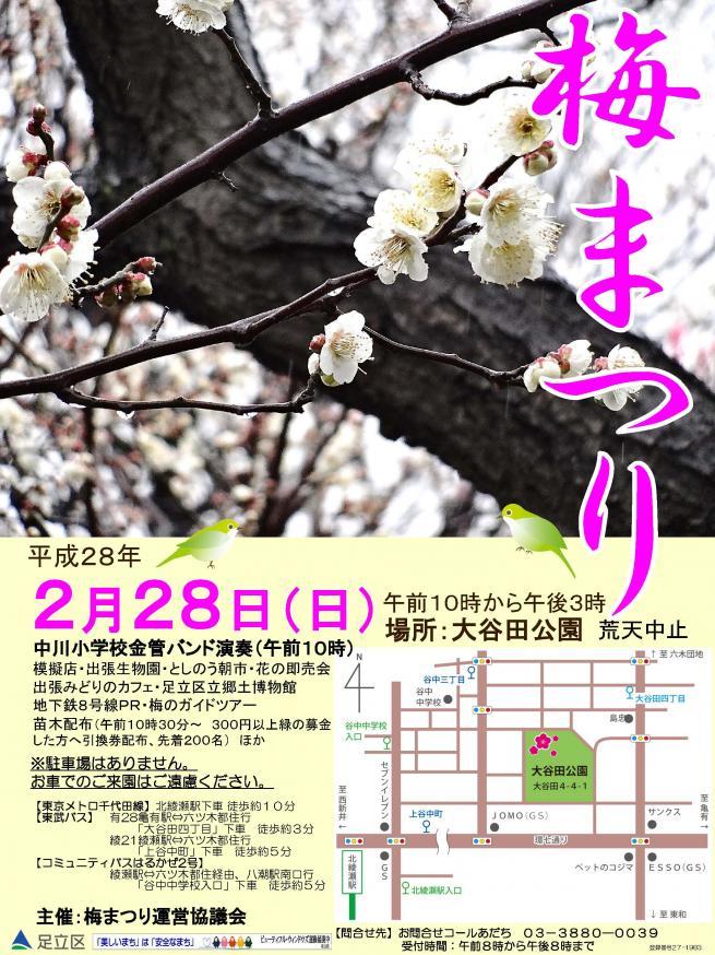 大谷田公園『梅まつり』